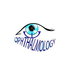 Ophthalmology eye care logo vector
