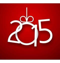 Paper 2015 new year sign vector