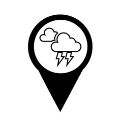 pin location with weather symbol vector image