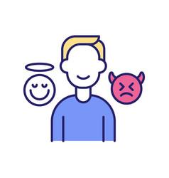Positive self-talk rgb color icon vector