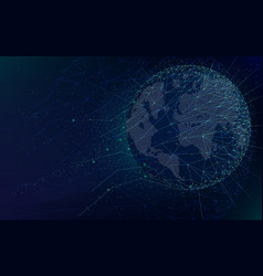 sci-fi futuristic technologies global network vector image
