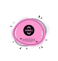 scroll down button icon scrolling screen sign vector image