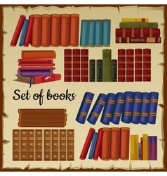Set of books from the library vector