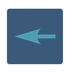 Sharp Left Arrow flat cyan and blue colors rounded vector