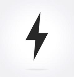 Simple lightning bolt icon symbol vector