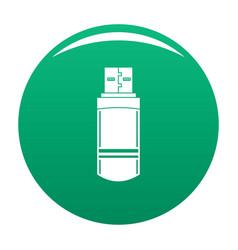 small flash drive icon green vector image