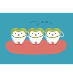 Soldier teeth of dental vector image vector image