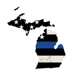 State michigan police support flag vector