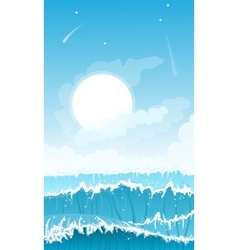 Stormy seascape background vector