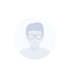 Student nerd guy avatar icon vector