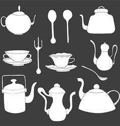 Tea Set Icons vector