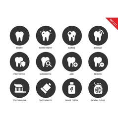 Teeth icons on white backround vector