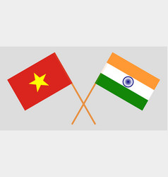 The vietnamese and indian flags vector