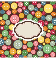 vintage frame sewing buttons vector image