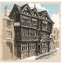 vintage view feathers hotel at ludlow in vector image
