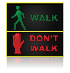 Walk and dont sign vector