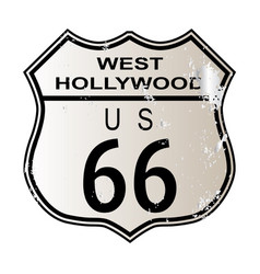 West hollywood route 66 vector