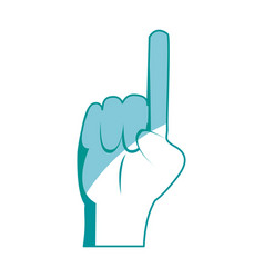 drawing hand man pointing gesture vector image