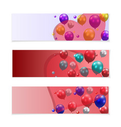 festive balloons on a background of translucent vector image