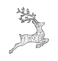 Hand Drawn of Jumping Deer vector image