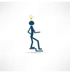 man with idea icon vector image vector image
