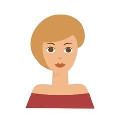 American Blonde Woman Flat vector image