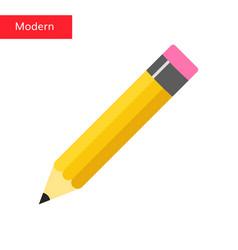 flat pencil icon pencil vector image