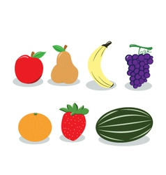 Group of Fruit vector image vector image