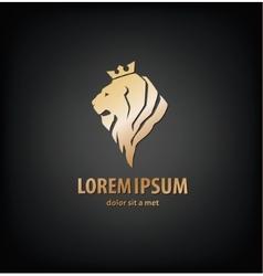 lion head in profile Template Logo vector image vector image