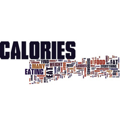 Lose weight find hidden calories text background vector