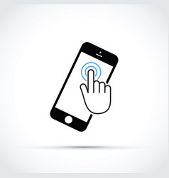mobile phone touch screen vector image