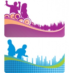 music banners vector image