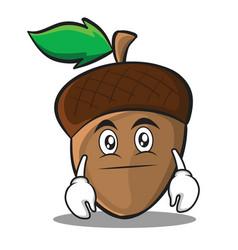 neutral acorn cartoon character style vector image vector image
