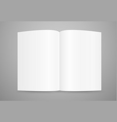 open book page template ready for a content vector image vector image