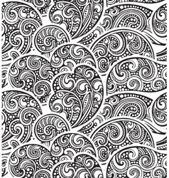 Seamless pattern with hand drawn doodle sea waves vector image