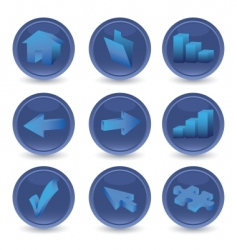 set of 3D icons vector image vector image