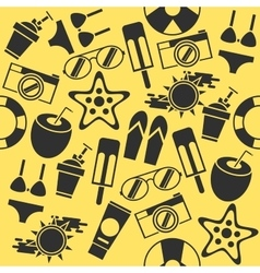 Beach icons set vector image