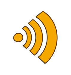 light colored hand drawn silhouette of wifi signal vector image