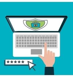 protection password data base online design vector image