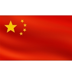 Red flag of Republic of China vector image