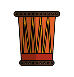 african drum instrument icon vector image