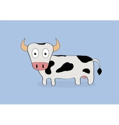 Cartoon cow isolated vector image