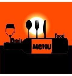 restaurant menu sunset or sunrise vector image