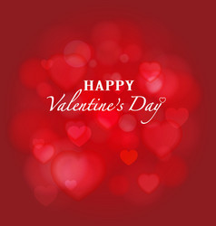 Shiny red bokeh Valentines background vector image vector image