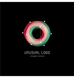 Unusual abstract geometric shapes logo vector