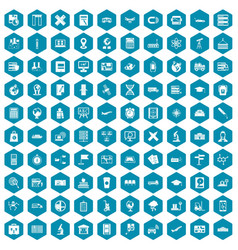 100 globe icons sapphirine violet vector