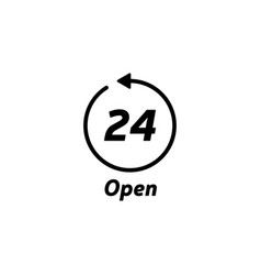 247 service open 24h hours a day and 7 days vector