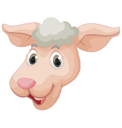 a face of sheep vector image