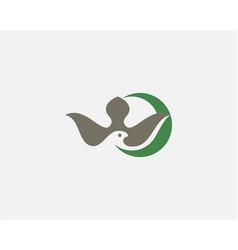 abstract bird crescent premium logo icon design vector image