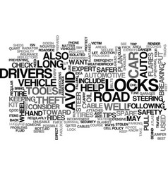 Auto shop safety text word cloud concept vector